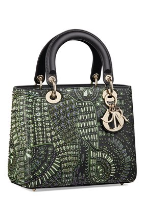 Женская сумка lady dior animals medium DIOR зеленого цвета, арт. M0565OWAQM55E | Фото 2