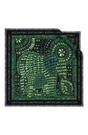 Женский шелковый платок dior animals elephant DIOR зеленого цвета, арт. 01DAN070I601C684 | Фото 1