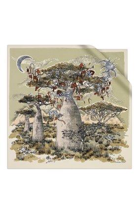 Женский шелковый платок dior magical baobab DIOR бежевого цвета, арт. 01DMB090I609C106 | Фото 1