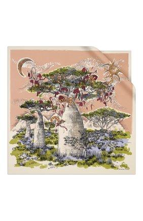 Женский шелковый платок dior magical baobab DIOR розового цвета, арт. 01DMB090I609C407 | Фото 1