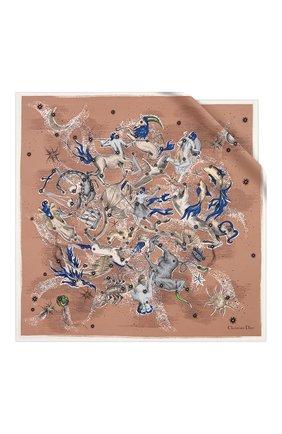 Женский шелковый платок dior sky map DIOR розового цвета, арт. 01DSM070I604C407 | Фото 1