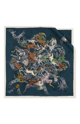 Женский шелковый платок dior sky map DIOR синего цвета, арт. 01DSM070I604C580 | Фото 1