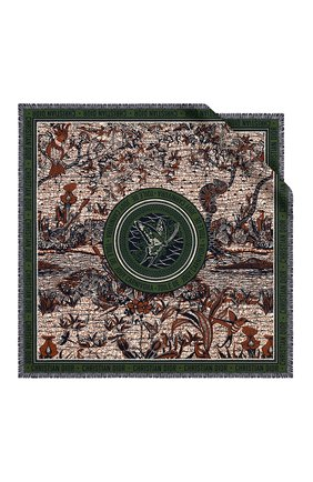 Женский шелковый платок dior wax toile de jouy DIOR зеленого цвета, арт. 01DWC090I607C639 | Фото 1