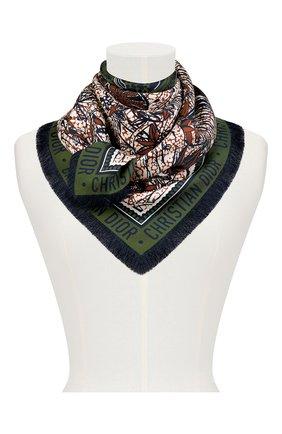 Женский шелковый платок dior wax toile de jouy DIOR зеленого цвета, арт. 01DWC090I607C639 | Фото 2