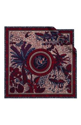 Женский шелковый платок dior wax toile de jouy DIOR бордового цвета, арт. 01DWT090I608C340 | Фото 1