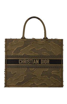 Женская сумка-тоут dior book  DIOR зеленого цвета, арт. M1286ZWAHM042 | Фото 1