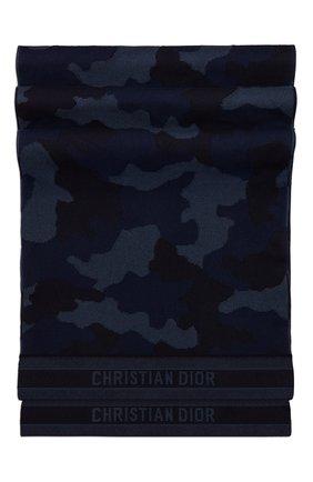 Мужские шарф dior camouflage из смеси шерсти и кашемира DIOR синего цвета, арт. 01CAM356I095C530   Фото 2