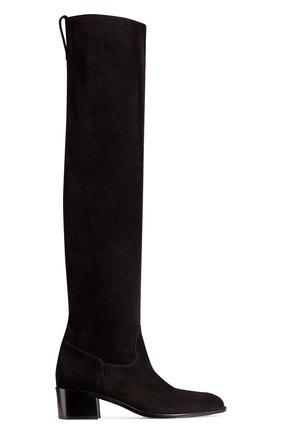 Женские замшевые сапоги dior global DIOR черного цвета, арт. KCI572VVVS900 | Фото 1