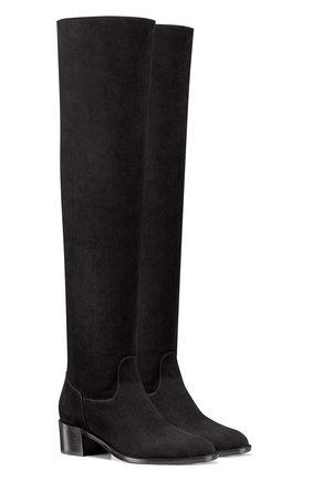 Женские замшевые сапоги dior global DIOR черного цвета, арт. KCI572VVVS900 | Фото 2