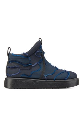 Женские текстильные ботинки nomad-d DIOR темно-синего цвета, арт. KCI593CNFS56B | Фото 1