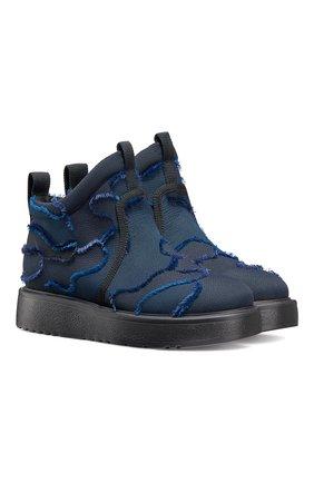 Женские текстильные ботинки nomad-d DIOR темно-синего цвета, арт. KCI593CNFS56B | Фото 2