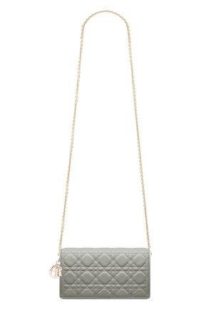 Женский клатч lady dior DIOR серого цвета, арт. S0204ONMJM41G | Фото 1