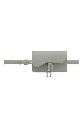 Женская поясная сумка saddle DIOR серого цвета, арт. S5619ILLOM41G   Фото 1