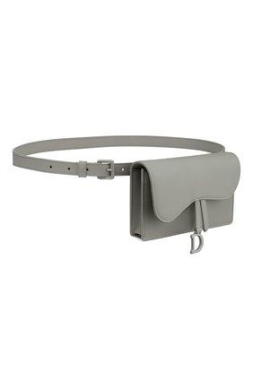 Женская поясная сумка saddle DIOR серого цвета, арт. S5619ILLOM41G   Фото 2