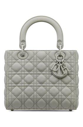 Женская сумка lady dior medium DIOR серого цвета, арт. M0565ILOIM41G   Фото 1