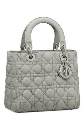 Женская сумка lady dior medium DIOR серого цвета, арт. M0565ILOIM41G   Фото 2