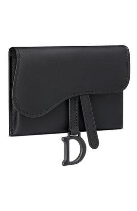 Женские кожаный кошелек на цепочке saddle mini DIOR черного цвета, арт. S5654SLLOM989 | Фото 2