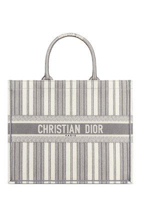 Женская сумка-тоут dior book diorivierа DIOR серого цвета, арт. M1286ZRISM932 | Фото 1