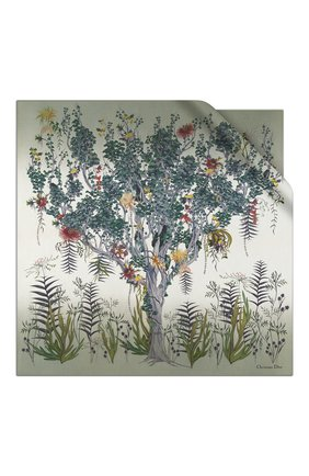 Женский шелковый платок le jardin nebuleux DIOR зеленого цвета, арт. 02JAN090I608C656 | Фото 1