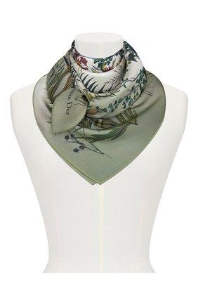 Женский шелковый платок le jardin nebuleux DIOR зеленого цвета, арт. 02JAN090I608C656 | Фото 2