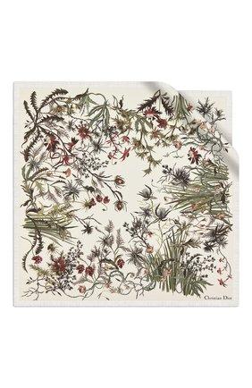 Женский шелковый платок le jardin sauvage DIOR белого цвета, арт. 02JAS055I602C086 | Фото 2