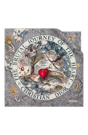Женский шелковый платок brutal journey of the heart DIOR белого цвета, арт. 02JHR070I614C083 | Фото 1