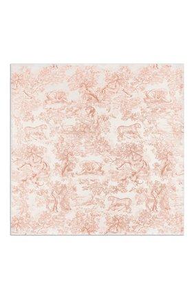 Женский шелковый платок dioriviera toile de jouy DIOR розового цвета, арт. 02JOU140I616C418 | Фото 1