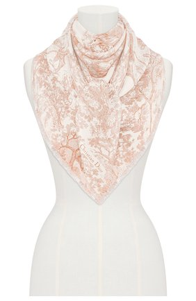 Женский шелковый платок dioriviera toile de jouy DIOR розового цвета, арт. 02JOU140I616C418 | Фото 2