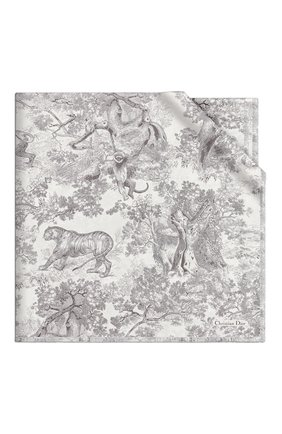 Женский шелковый платок dioriviera toile de jouy DIOR серого цвета, арт. 02JOU140I616C818 | Фото 1