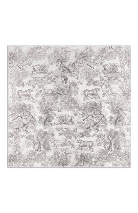 Женский шелковый платок dioriviera toile de jouy DIOR серого цвета, арт. 02JOU140I616C818 | Фото 2