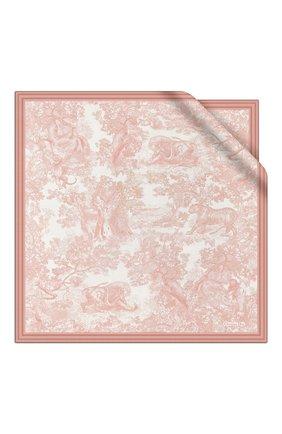 Женский шелковый платок dioriviera toile de jouy DIOR розового цвета, арт. 91JOU090I601C418 | Фото 1