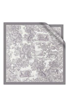 Женский шелковый платок dioriviera toile de jouy DIOR серого цвета, арт. 91JOU090I601C818 | Фото 1