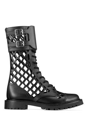 Женские кожаные ботинки d-trap DIOR черного цвета, арт. KCI601CFMS900 | Фото 1
