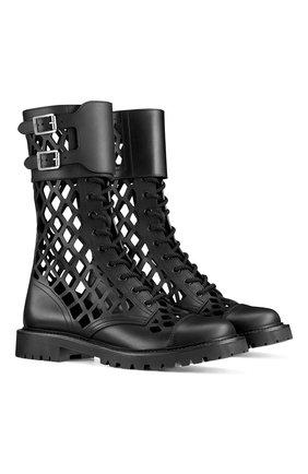 Женские кожаные ботинки d-trap DIOR черного цвета, арт. KCI601CFMS900 | Фото 2