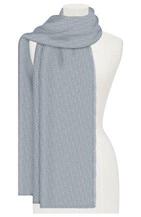 Мужские кашемировый шарф dior oblique DIOR синего цвета, арт. 01CDO300A050C517   Фото 2