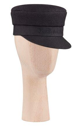 Женская хлопковая кепи dior DIOR черного цвета, арт. 02DCP920A140C900 | Фото 1