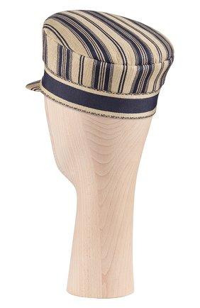 Женская хлопковая кепи dior bayadere DIOR бежевого цвета, арт. 02DCP920I140C512 | Фото 2