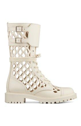Женские кожаные ботинки d-trap DIOR бежевого цвета, арт. KCI601CFMS03W | Фото 1