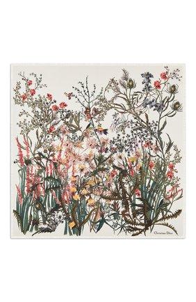 Женский шелковый платок le jardin champetre  DIOR белого цвета, арт. 02JAC090I603C087 | Фото 1