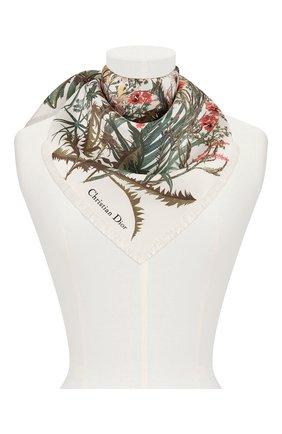 Женский шелковый платок le jardin champetre  DIOR белого цвета, арт. 02JAC090I603C087 | Фото 2
