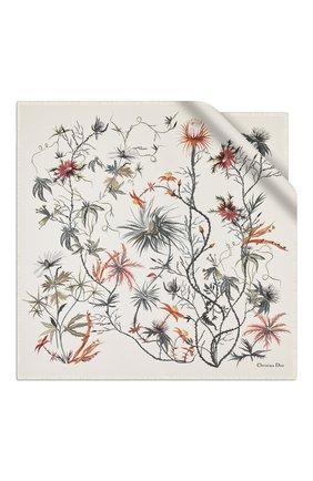 Женский шелковый платок le jardin graphique DIOR белого цвета, арт. 02JAG070I601C085 | Фото 1