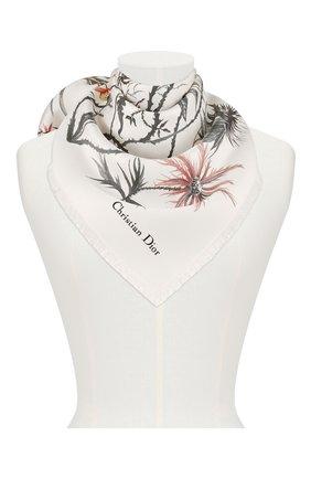 Женский шелковый платок le jardin graphique DIOR белого цвета, арт. 02JAG070I601C085 | Фото 2
