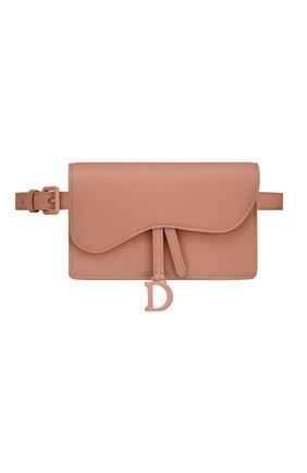 Женская поясная сумка saddle DIOR бежевого цвета, арт. S5619ILLOM50P   Фото 1