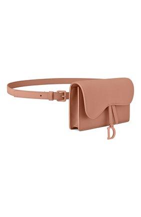 Женская поясная сумка saddle DIOR бежевого цвета, арт. S5619ILLOM50P   Фото 2