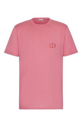 Мужская хлопковая футболка DIOR розового цвета, арт. 013J600A0589C420 | Фото 1