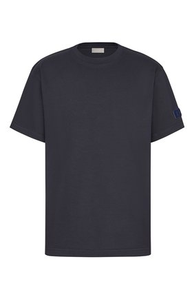 Мужская хлопковая футболка DIOR темно-синего цвета, арт. 013J615A0554C542 | Фото 1