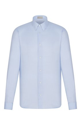 Мужская хлопковая сорочка DIOR синего цвета, арт. 013C547A4771C500 | Фото 1