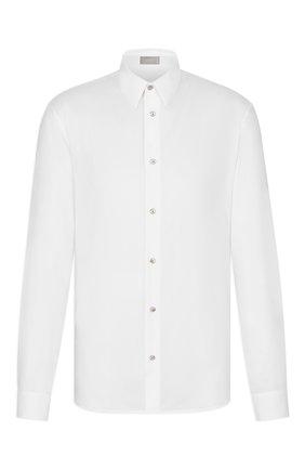 Мужская хлопковая сорочка DIOR белого цвета, арт. 013C547A4771C000 | Фото 1