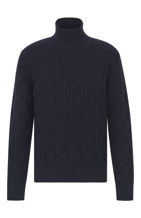 Мужской свитер из смеси шерсти и кашемира DIOR темно-синего цвета, арт. 013M607AT074C540 | Фото 1