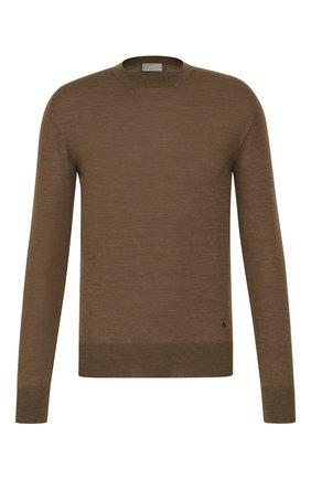 Мужской шерстяной джемпер DIOR коричневого цвета, арт. 013M600AT069C181 | Фото 1